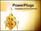 PowerPoint Template - gold dollar sign