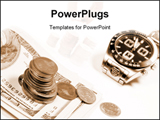 PowerPoint Template - Money and watch