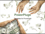 PowerPoint Template - hands asking the help and hands saving the money made from my images)