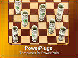 PowerPoint Template - Money on chess board - business concept background