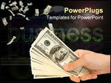 PowerPoint Template - money in hand isolated on
