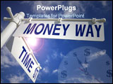 PowerPoint Template - street post time st and money way signs
