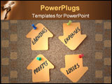 PowerPoint Template - Business oriented finance keywords relating to sales, marketing and banking