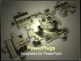 PowerPoint Template - puzzle pieces - 3d render