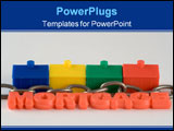 PowerPoint Template - Metaphor for the chain when buying a house
