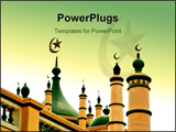 PowerPoint Template - beautiful mosque in asia with detailed roof