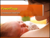 PowerPoint Template - Happy mother with newborn baby