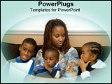 PowerPoint Template - An African American family with a single mother.