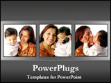 PowerPoint Template - A mother plays with her son.