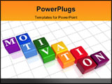 PowerPoint Template - 3d colour boxes with text - motivation word