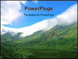 PowerPoint Template - Clouds on top of Snowdonia Mountain range North Wales