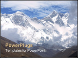 PowerPoint Template - Top of the Word � the Mount Everest and Lothse.