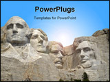 PowerPoint Template - Mt. Rushmore in South Dakota - horizontal picture.