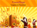 PowerPoint Template - guys dancing in front of speaker