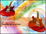 PowerPoint Template - hot strings in colored background