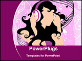 PowerPoint Template - girl listening music