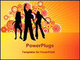 PowerPoint Template - guyes enjoy dancing in party