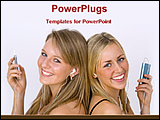 PowerPoint Template - two girls listening music with ipod