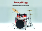 PowerPoint Template - jazz drums