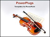 PowerPoint Template - violin and vintage music sheet
