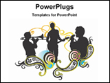 PowerPoint Template - image of illustrated music concert