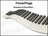 PowerPoint Template - wavy piano keys