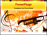 PowerPoint Template - illustrated music background