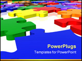 PowerPoint Template - multicolour puzzle in 3d