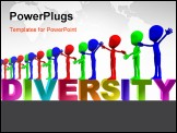 PowerPoint Template - A row of colourful figures representing multiculturalism and diversity.