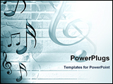 PowerPoint Template - music background with notes and sheet music