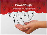 PowerPoint Template - a photo of a woman releasing music notes