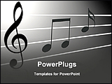 PowerPoint Template - different music notes