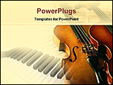PowerPoint Template - a violin with nodes
