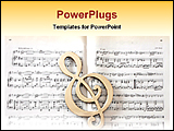 PowerPoint Template - a classical sheet of music
