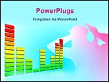 PowerPoint Template - image showing musical beats