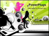 PowerPoint Template - A DJ blasting some tunes with girls dancing.
