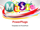PowerPoint Template - Music abstract colorful background.