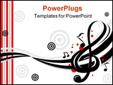 PowerPoint Template - Stylish design of music notes