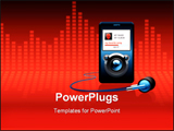 PowerPoint Template - an mp3 player with headphones vector image