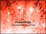 PowerPoint Template - Music notes on a blue background: some kind of a party