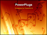 PowerPoint Template - soft red background with some music notes in it