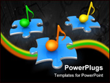 PowerPoint Template - Computer Generated Image - Musical Notes .