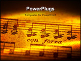 PowerPoint Template - musical notes creative lighting.