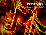 PowerPoint Template - colorful music notes on a black background