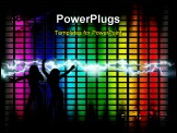PowerPoint Template - Background of music panel control with ray