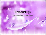 PowerPoint Template - Music notes on a purple background: some kind of a party