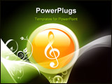 PowerPoint Template - Illustration of music symbol and floral designs
