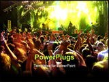 PowerPoint Template - Band at a rock concert. Blur crowd