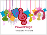 PowerPoint Template - An Illustration of Music Strings with Clipping Path
