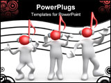 PowerPoint Template - Computer Generated Image - Music People .